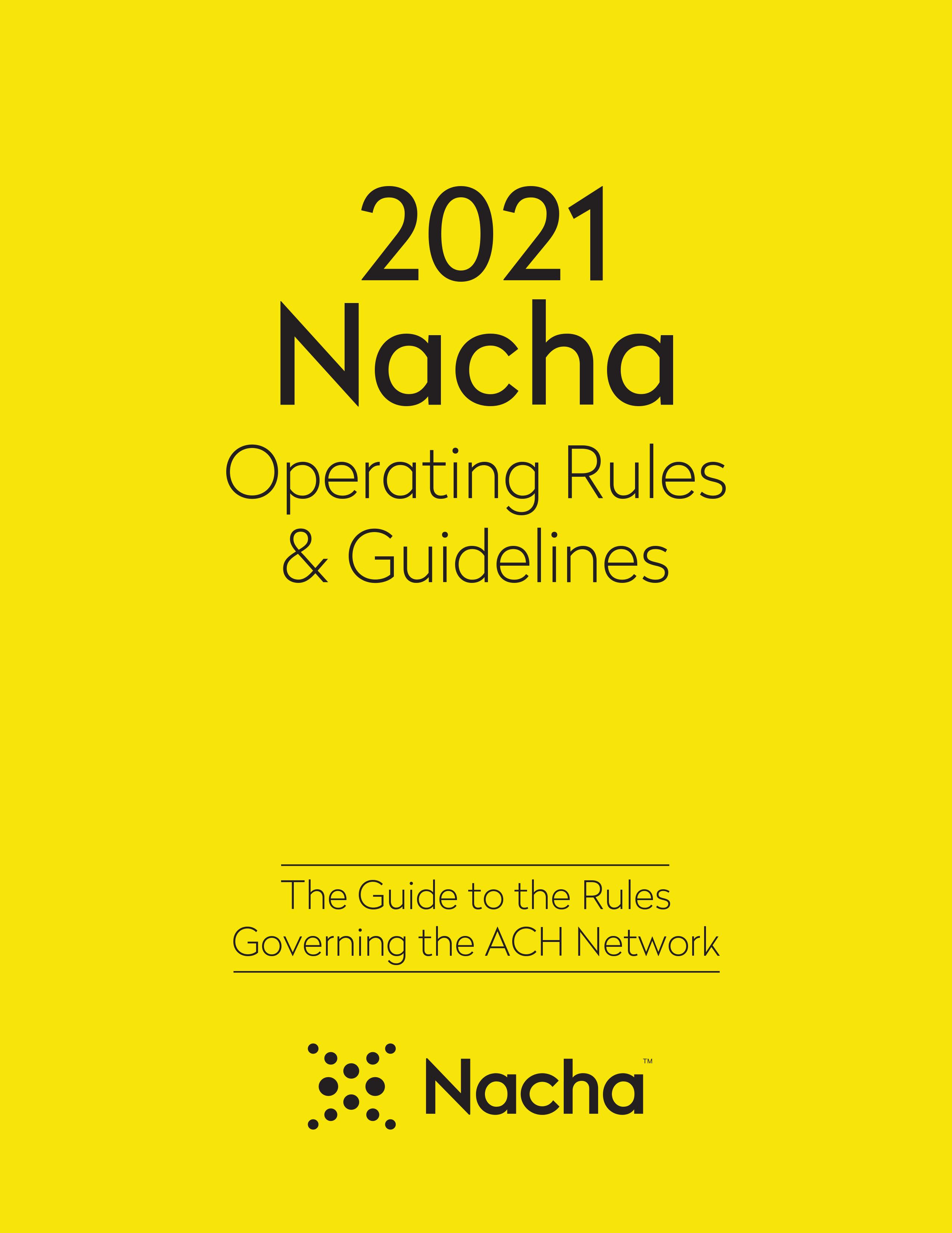 2020 ACH Rules